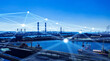 canvas print picture - 産業とネットワーク ICT IoT 5G