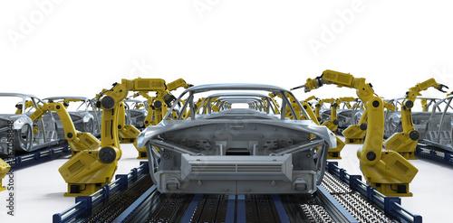 Obraz Automation aumobile factory - fototapety do salonu