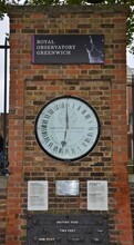 Shepherd 24-hour Clock Outside Of Royal Greenwich Observatory. Likely The First Clock To Show Greenwich Mean Time.