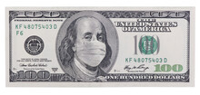 One Hundred Dollar Bill With M...