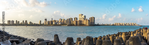 Fototapeta premium Panaroma Of Marine Drive Mumbai