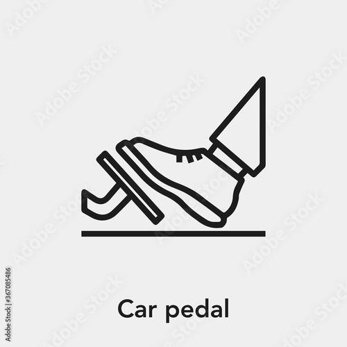 Canvas Print car pedal icon vector