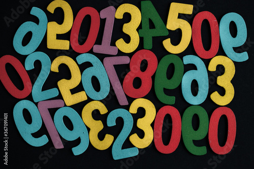 Photo Background of numbers