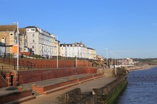 Traditional Victorian Seafront Housing In The Coastal Town Of Bridlington, Yorkshire, England, UK.