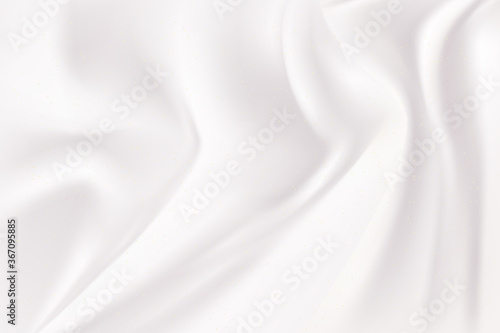 white and gray wave silk fabric abstract background. Fototapeta