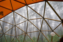 Huge Dome With Wooden Construc...