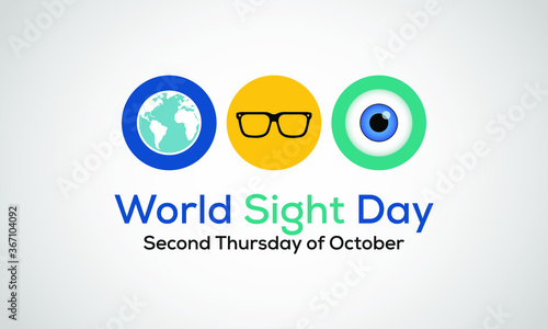Slika na platnu World Sight Day, observed annually on the second Thursday of October, is a global event meant to draw attention on blindness and vision impairment