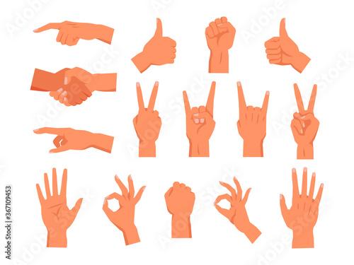 Fotografie, Tablou Set of vector hand gesture