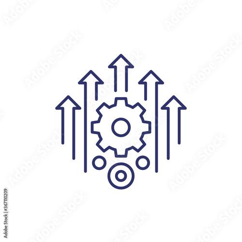 Fototapeta efficiency, efficient process line icon obraz