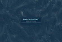 Topographic Contour Map With C...