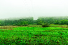 Scenic View At Beautiful Misty...