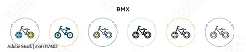 Fotografía Bmx icon in filled, thin line, outline and stroke style