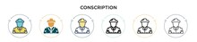 Conscription Icon In Filled, T...