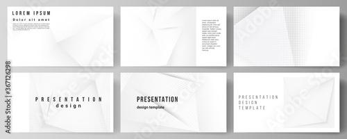 Vector layout of the presentation slides design templates, multipurpose template for presentation brochure, brochure cover Canvas Print
