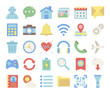 mobile user interface flat vector icons