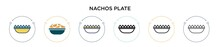 Nachos Plate Icon In Filled, T...
