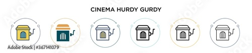 Photographie Cinema hurdy gurdy icon in filled, thin line, outline and stroke style