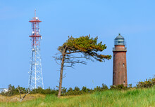 Radio Tower, Lighthouse And Wind Swept Pine