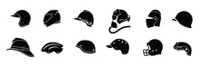 Collection Of Helmet Icon Isol...