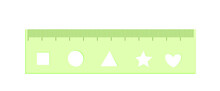 School Ruler With Stencil Of G...
