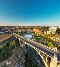 View Of Downtown Spokane And Bridge