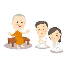 Cartoon Buddhish Vector