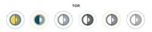 Tor Icon In Filled, Thin Line,...