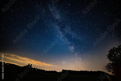 Fotografie, Obraz Milchstraße am Himmel bei Nacht in guter Auflösung