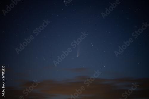 Fotografie, Obraz Komet am Himmel bei Nacht in guter Auflösung