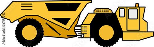 Fotomural Underground Mining Truck - Articulated Truck - mining vehicle (ADT)- mine - Unde