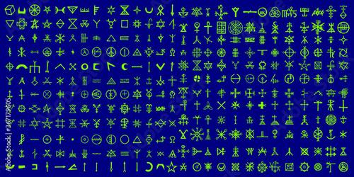 Fotografija Non binary futuristic cyberspace code background
