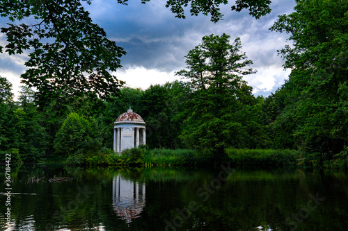 Lonely white rotunda by the river Wallpaper Mural