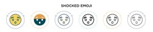 Shocked Emoji Icon In Filled, ...
