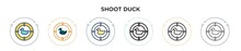 Shoot Duck Icon In Filled, Thi...