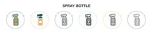 Spray Bottle Icon In Filled, T...