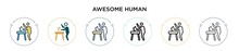 Awesome Human Icon In Filled, ...