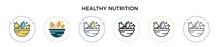 Healthy Nutrition Icon In Fill...