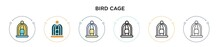 Bird Cage Icon In Filled, Thin...