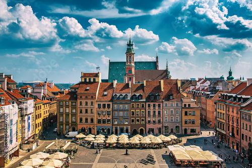 Market square in Warsaw Canvas Print