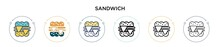 Sandwich Icon In Filled, Thin ...