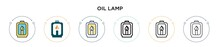 Oil Lamp Icon In Filled, Thin ...
