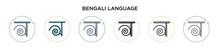 Bengali Language Icon In Fille...