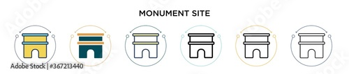 Valokuva Monument site icon in filled, thin line, outline and stroke style
