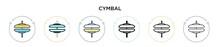 Cymbal Icon In Filled, Thin Li...