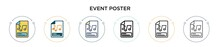 Event Poster Icon In Filled, T...
