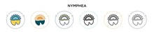 Nymphea Icon In Filled, Thin L...