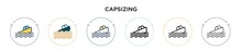 Capsizing Icon In Filled, Thin...