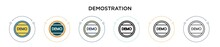 Demostration Icon In Filled, T...