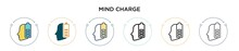 Mind Charge Icon In Filled, Thin Line, Outline And Stroke Style. Vector Illustration Of Two Colored And Black Mind Charge Vector Icons Designs Can Be Used For Mobile, Ui, Web