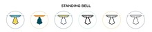 Standing Bell Icon In Filled, ...